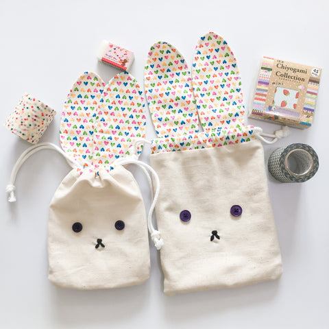 Baby Bear (Level 1) Hunny Bunny Drawstring Gift Pouch Sewing Workshop