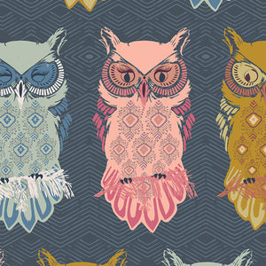 AGF Woven - Bird of Night Slate, Nightfall Collection