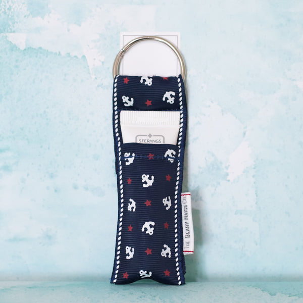Sailor Anchors Lip Balm Holder in Navy
