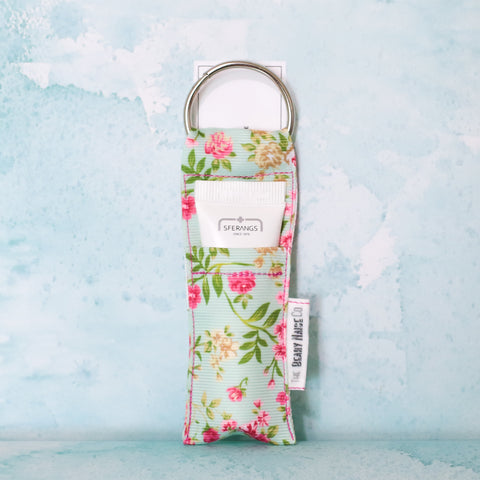Tiny Florals Lip Balm Holder in Tiffany