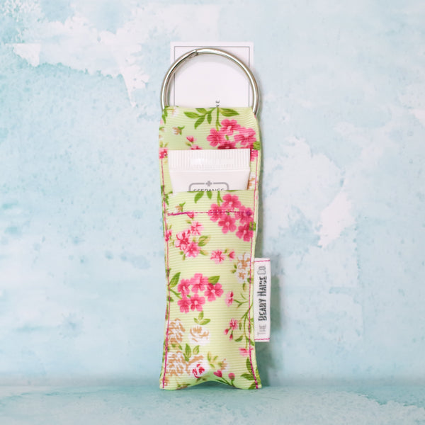 Tiny Florals Lip Balm Holder in Summer Green