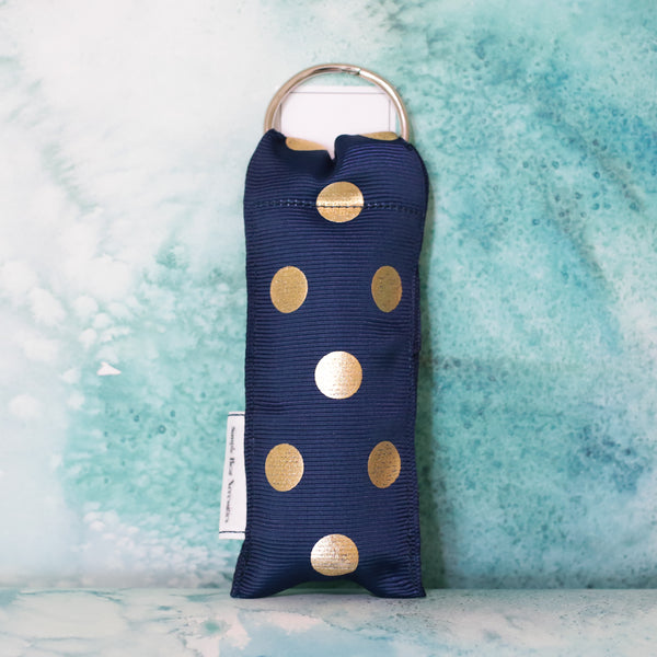 Polka Dot Lip Stick Holder in Navy