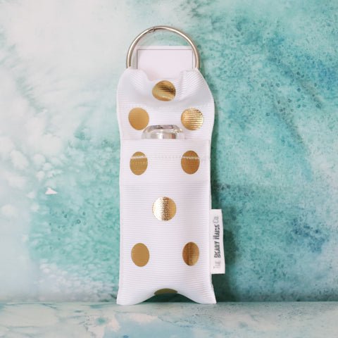 Polka Dot Lip Stick Holder in White