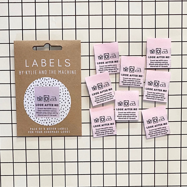 """LOOK AFTER ME"" Woven Clothing Labels (Pack of 8)"