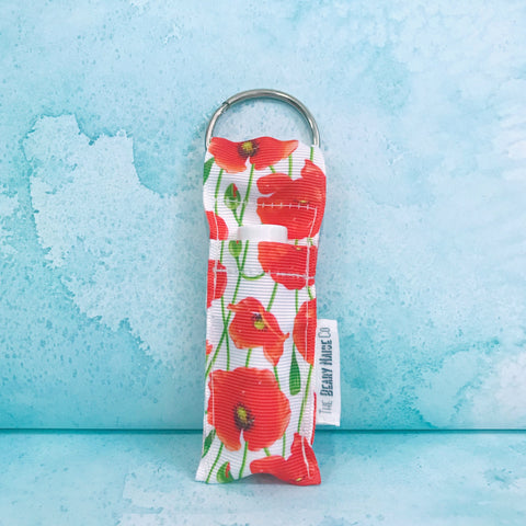 Red Poppies Lip Balm Holder