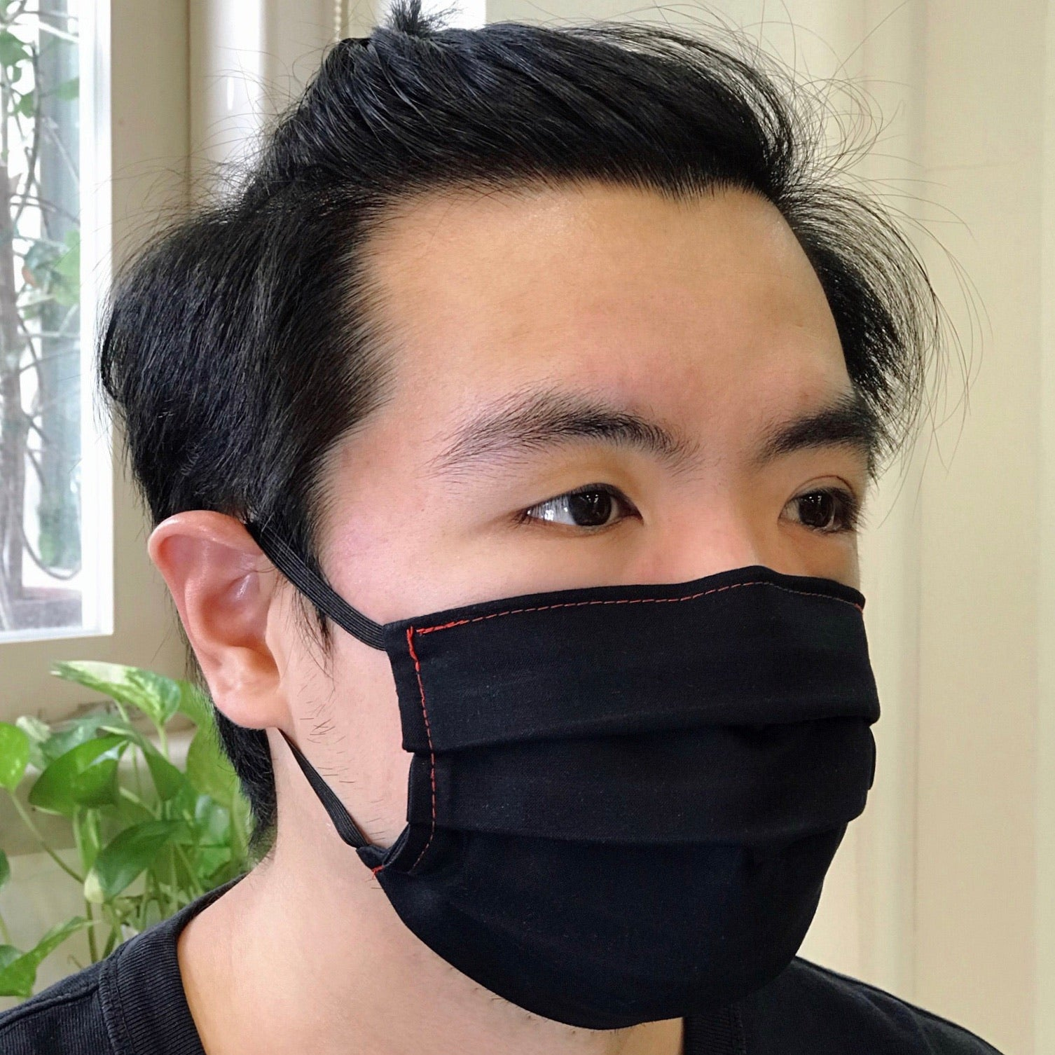 Stealth 100% Premium Cotton Fabric Mask (Pack of 2 Black)