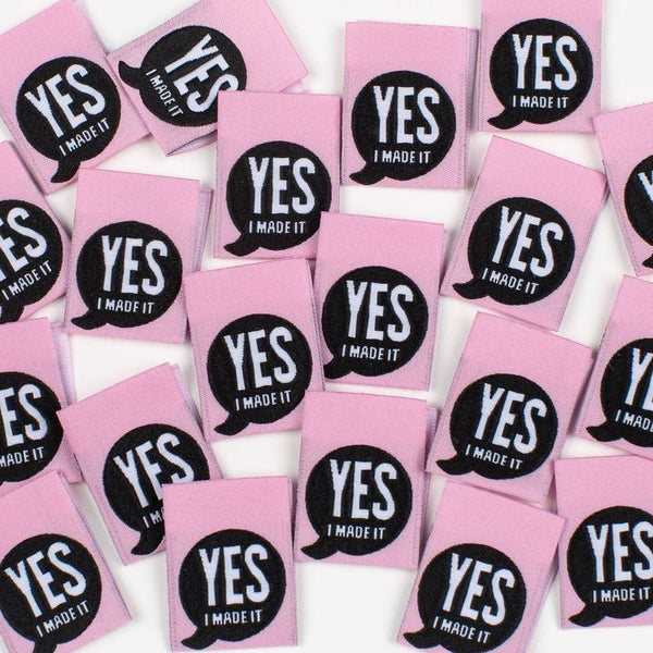 """YES I MADE IT!"" Woven Clothing Labels (Pack of 8)"