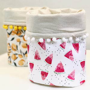 "Baby Bear (Level 1) ""DIY Home Decor"" Pompom Fabric Basket Sewing Workshop"