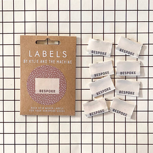 """BESPOKE"" Woven Clothing Labels (Pack of 8)"