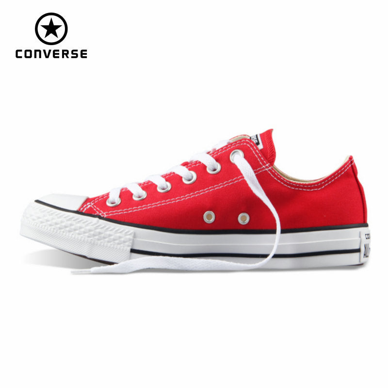 36f5391abe Original Converse all star canvas shoes women man unisex sneakers low classic  women Skateboarding Shoes red ...