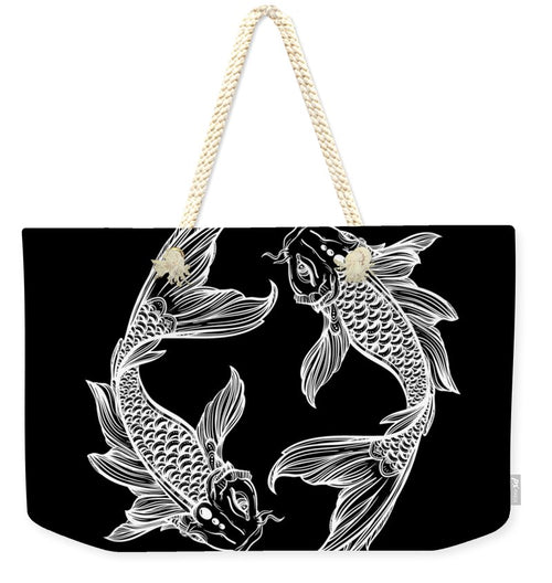 Koi Fish Circle - Weekender Tote Bag