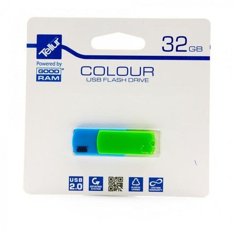 Tellur 32GB TELLUR COLOUR MIX USB 2.0 PD32GH2GRCOMXR9+T by Goodram