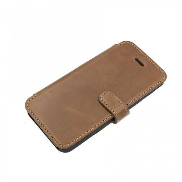Tellur Book Case Genuine Leather for iPhone 5/5s/SE, Brown