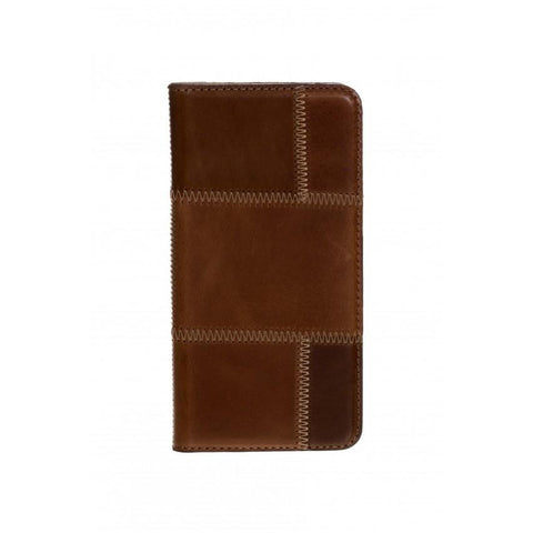 Tellur Book Case Magnetic Genuine Leather Patch for Samsung A5 2016, Brown