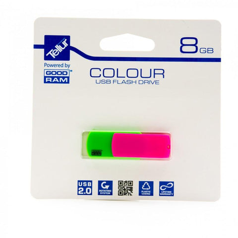 Tellur 8GB TELLUR COLOUR MIX USB 2.0 PD8GH2GRCOMXR9+T by Goodram