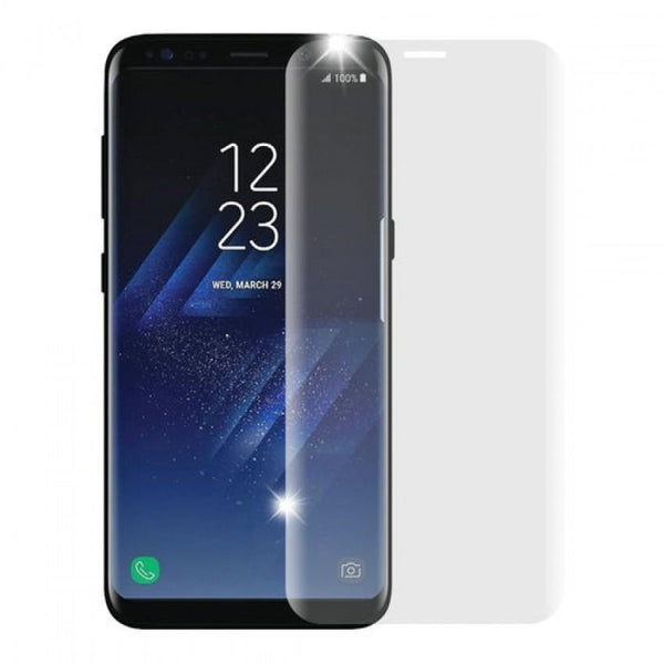 Tempered Glass 3D for Samsung S8+ Clear + Silicone Case Samsung S8+ Bk