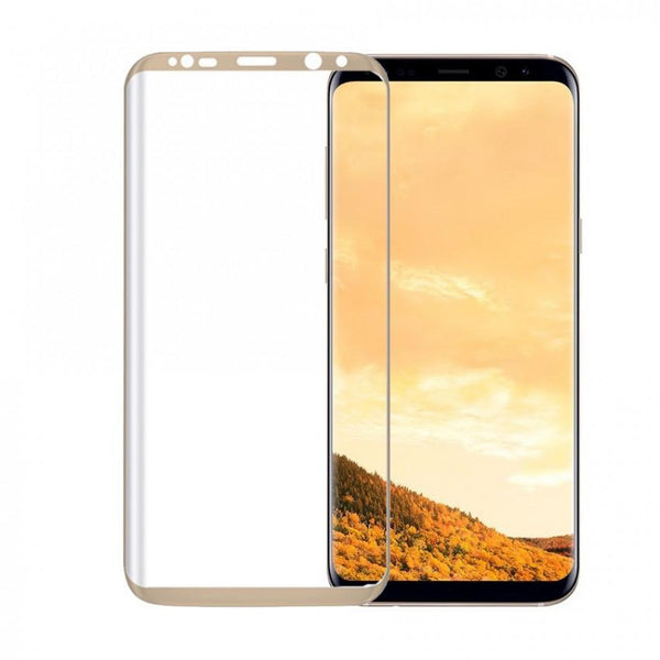 Tempered Glass 3D for Samsung S8+ Gold + Cover Samsung S8+ Stripes Bk
