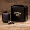 Jameson Black Barrel Engraved 6oz Hip Flask with funnel