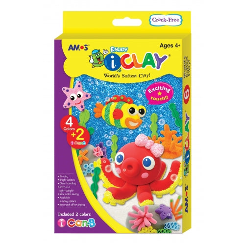 Amos I-clay 4 Colours + i-Can 2 packs - Dreampiece Educational Store