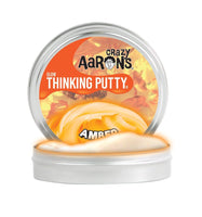 "Crazy Aaron's - Amber Glow Thinking Putty 2"" tin"