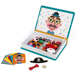 Janod - Boys Crazy Faces Magnetibook - Dreampiece Educational Store