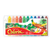 Amos Colorix Silky Crayon (Large Lead) 12 pack for Toddler