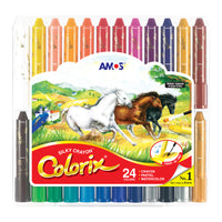 Amos Colorix Silky Crayon (Large Lead) 24 pack for Toddler