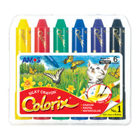 Amos Colorix Silky Crayon (Large Lead) 6 pack for Toddler