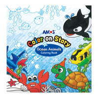 Amos Colour on Story- Ocean Animals Colouring Book