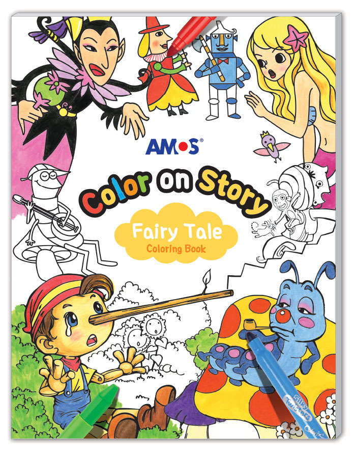 Amos Colour on Story- Fairy Tales Colouring Book