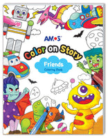 Amos Colour on Story- Friends Colouring Book