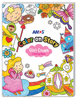 Amos Colour on Story- Girl Crush Colouring Book