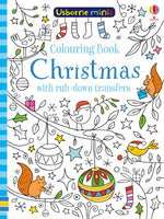 Usborne - Mini Books Colouring Book Christmas with Rub-Downs
