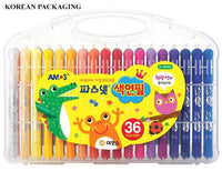 Amos 3-in-One Silky Twisters Crayon 36 pack (NEW! Korean Packaging only)