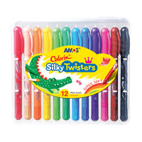 Amos Colorix 3-in-One Silky Twisters Crayon 12 pack
