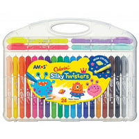 Amos 3-in-One Silky Twisters Crayon 24 pack