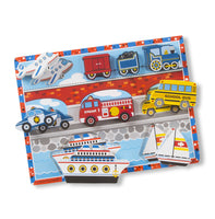 Melissa & Doug- Vehicles Chunky Puzzle 9 Pieces (#3725)