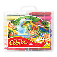 Amos Colorix Silky Crayon (Large Lead) 36 pack for Toddler