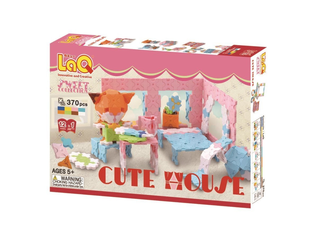 LaQ Sweet Collection CUTE HOUSE - 12 Models, 370 Pieces - Dreampiece Educational Store
