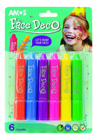 Amos Face Deco/ Body Art 6 Colours - Dreampiece Educational Store