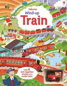Wind-up train book with slot-together tracks - Dreampiece Educational Store