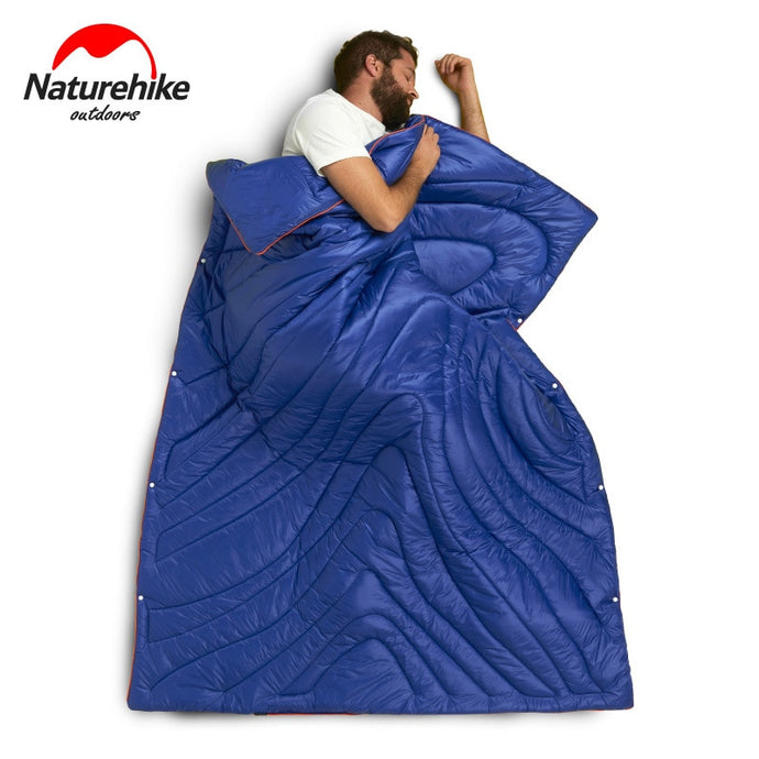 Multi-function Portable Blanket Quilt Ultralight 3 In 1 design converts to a sleeping bag!