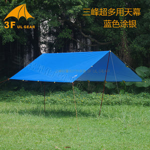 3F UL GEAR Ultralight Tarp, Silver coating, Great for Camping Survival Sun Shelter Shade Awning