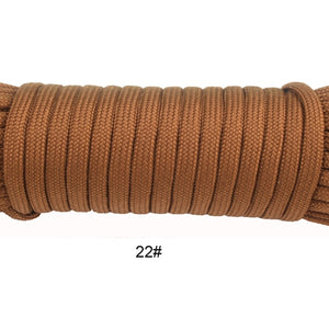 Polyester  Para-cord 550 Rope Type III 7 Stand 100FT & 50FT Parachute Cord great for camping or Survival kit