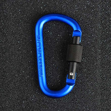 8cm Aluminum Alloy Carabiner D-Ring  w/  Snap Hook for Keys CL128