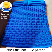 2 Person, Soft, Air Inflatable,  Double-wide Mattress: (single user available also)