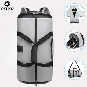 Large Capacity, Waterproof  Travel Backpack with Shoe Pocket
