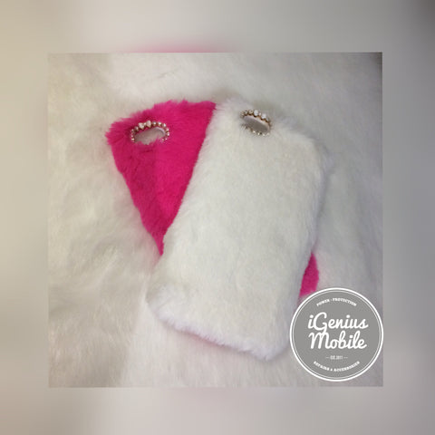 SALE - White Furry Case