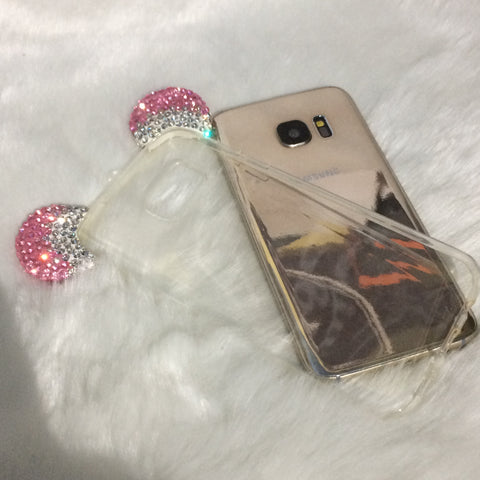 Bunny Ears Diamanté Silicone case