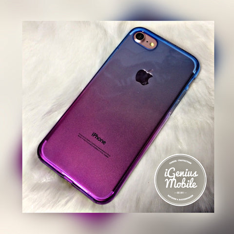 SALE - Shockproof Ombré Case (Silicone, Purple & Blue)